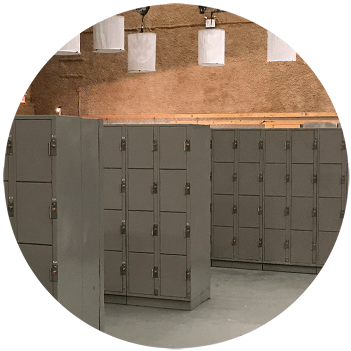 Tiburon Lockers for Events